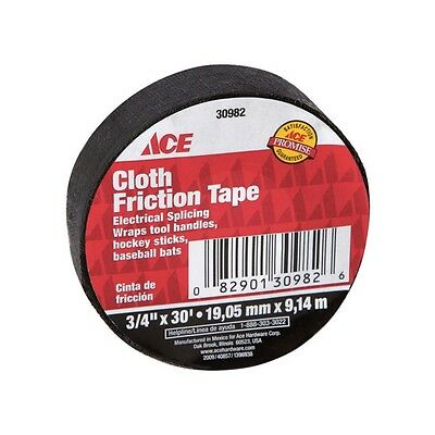 """Cloth Friction Electrical Tape 3/4"""" x 30'  Black ~ New"""
