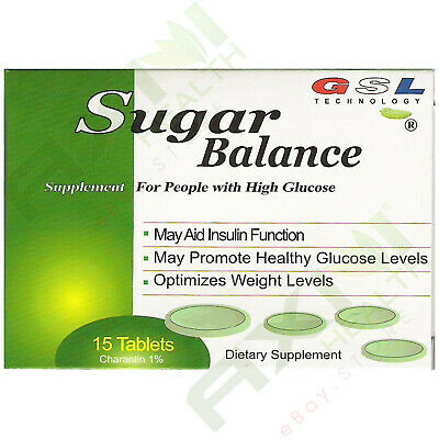 3 Boxes GSL SUGAR BALANCE SUPPLEMENT FOR HIGH GLUCOSE 1700mg WITH 15 TABLETS/BOX