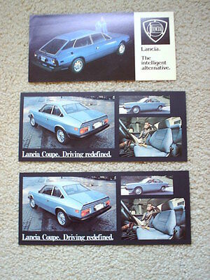 3 Lancia Coupe and HPE Original Color Post Cards
