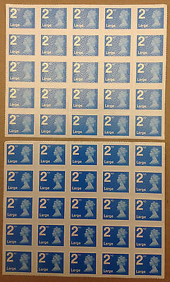 50x 2nd Class Large Letter Self Adhesive Genuine British Mint Postage Stamps