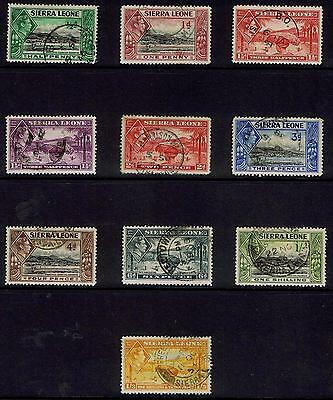 Sierra Leone 1938 KGVI Pictorials - Used SS with values to 1s3d