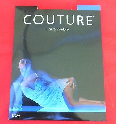 One Pair Black Haute Couture Lycra Stockings One size fits most 10 Denier