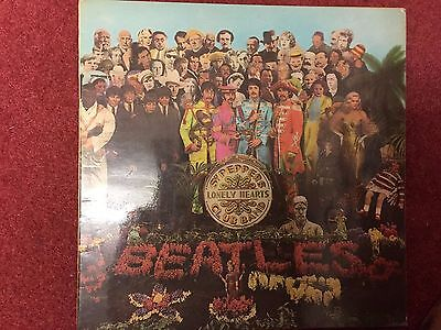 BEATLES Sgt.Peppers Lonely Hearts Club Band LP UK 1st MONO PMC 7027