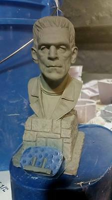Frankenstein  bust sculpted by Jeff Yagher  1/4 scale resin model kit