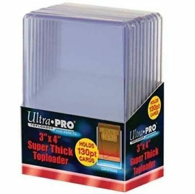 10 Ultra Pro 3 x 4 Super Thick Toploaders 130pt