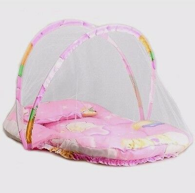Baby Happy Baby Girl Pink Portable Net Folding Baby Canopy Bed