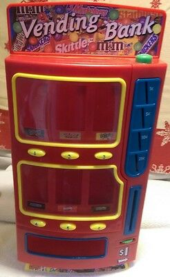 Candy Vending Machine Bank Holds M&Ms Snickers Twix and Skittles