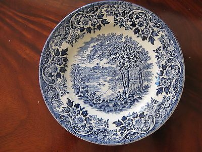 Blue & White Patterned Plate
