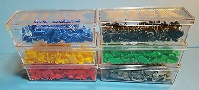 RISK Board Game ARMY Replacement Pieces & PLASTIC CASES 1993 World Conquest