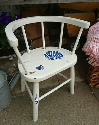 Bentwood white Child's Babies Bergere round Back Original Chair Doll Teddy rare