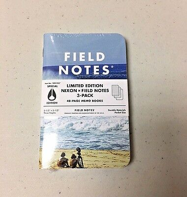 Field Notes x Nixon SEALED 3-Pack Memo Notebooks Pads - Limited Edition