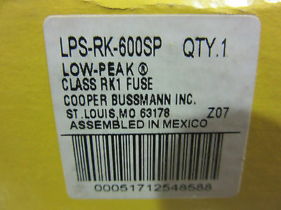 (3) Bussmann LPS-RK-600SP Fuses 600A 600V Low-Peak NEW!!! in Factory Box