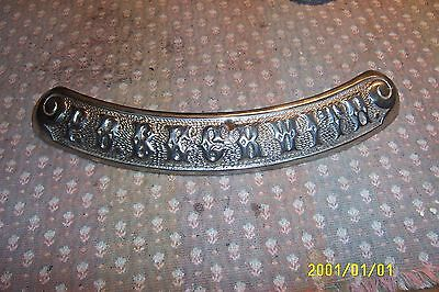 antique cast iron  parlor stove round oak 18 -1893 belly name plate great nickel