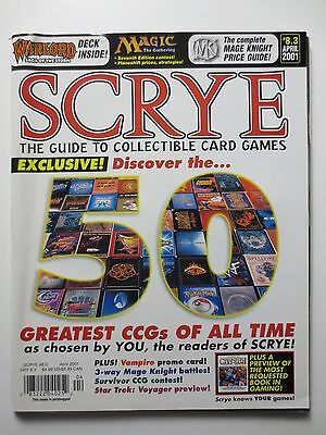 SCRYE MAGAZINE #8.3 April 2001 Magic Mage Knight battles Star Trek Games (M1054)