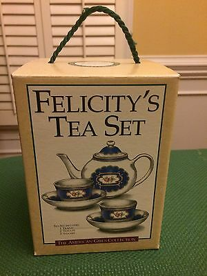 Pleasant Co. Felicity Tea Set Williamsburg American Girl Child Size Incomplete