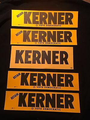 Otto Kerner Vintage Unused Bumper Stickers Lot Of 5 Stickers