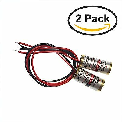 """farhop 4.5V 5mW 650nm Red """"Cross"""" Laser 9x21mm Diode Module (2 Pack) with Cla..."""
