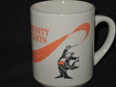 Community Concerts Coffee Mug cup Musicans Maestro conductor ballet dance music