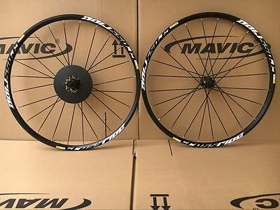 "New Mavic Crossride Disc CR MTB Mountain Bike 6-bolts 29"" F&R Wheels Wheelset"