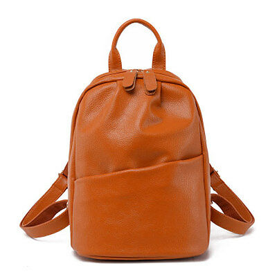 Fashion Women Genuine PU Leather Backpack Travel School Bags for Teenager Girls