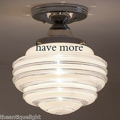 838 Vintage Beehive Ceiling Light Fixture Glass bath  kitchen {8 tiered} 1 of 3