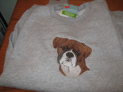 New Boxer Dog Embroidered Sweatshirt Add Name For Free