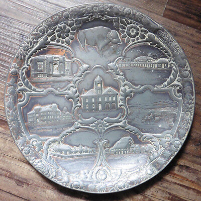 Antique Metal Montana Plate (Late 1800S)