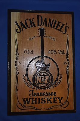 Jack Daniels sign carve in Cherry Wood American Made Home Made