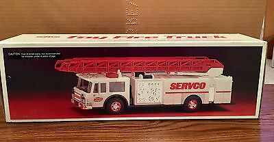 Vintage 1990 Servco Gasoline Fire Truck Toy Bank - NOS