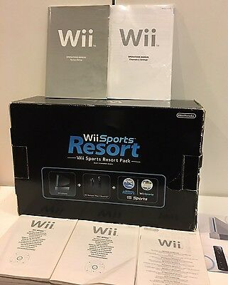 Nintendo Black Wii Sports Resort Pack Box Replacement Only Empty + Instruction