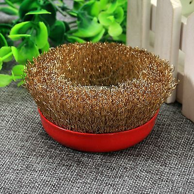 Steel Wire Crimped Abrasive Grinding Bowl Wheel Brushes 16mm Dia for Rotary Tool