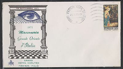 Italy Sc. 1032 Virgin and Child 1970 on Masonic FDC