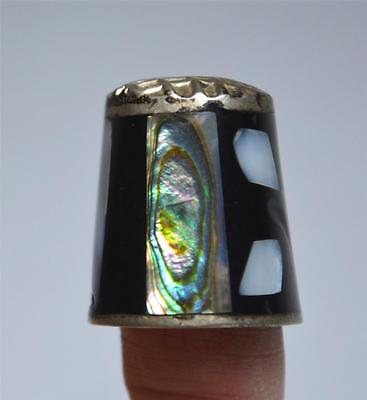 Abalone, Mother of Pearl & Ebony Thimble