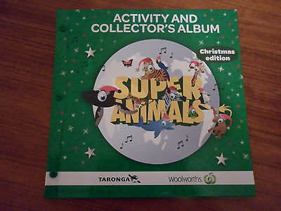 Woolworths Green Christmas Super Animals Album Plus Full Set