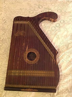 Vintage American Music Co. Wooden Mandolin-Guitar Zither/Autoharp