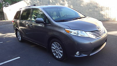 2012 Toyota Sienna LIMITED AWD LUXURY NO RESERVE ALL POWER DUAL SUNROOF NAV BACKUP CAMERA HIGHWAY MILES REMOTE START