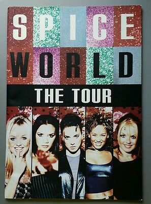 Spice Girls SpiceWorld UK Tour Book  Posh Baby Ginger Sporty Scary