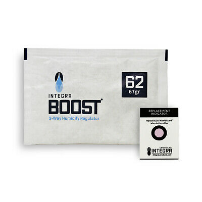 20 Pack Integra Boost RH 62% 67 gram Humidity 2 Way Control Humidor Fresh Pack