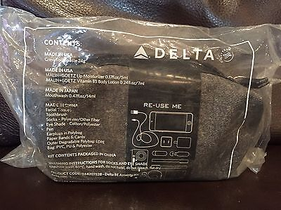 Delta Airlines Business Class Tumi Amenity Kit (vinyl case) - NEW!