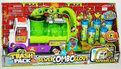 The Trash Pack Sewer Truck Combo With 12 Trashies And 5 Tubes!