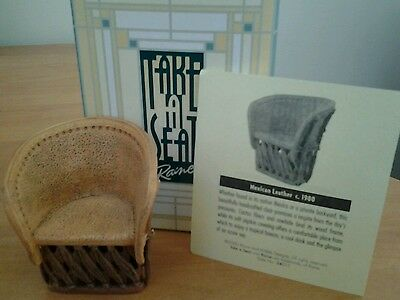 TAKE A SEAT by Raine Miniature  style # 24015 Mexican Leather