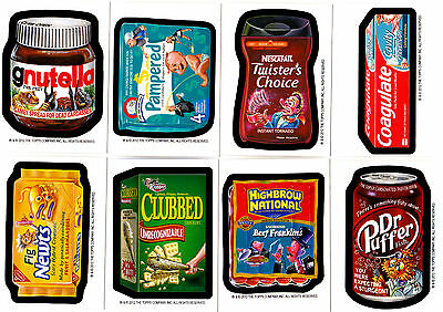 2012 Wacky Packages L.e. Postcard Series8 Complete Bio Card Set 8/8 Rare!!