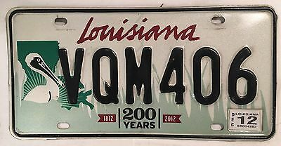 BROWN PELICAN WILDLIFE license plate VQM 406 Cane River Creole National Park