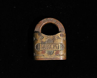 Vintage Sargent Lock All Brass No Key
