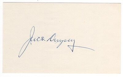Jack Dempsey Boxing Signed Index Card