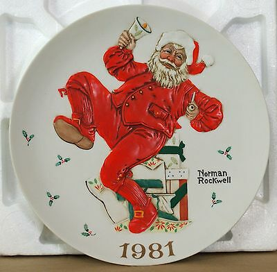 Vintage1981 Norman Rockwell Museum Christmas Plate Ringing In Good Cheer COA NIB
