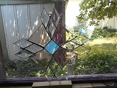 Stained Glass Window Panel Suncatcher One Of A Kind Large Art