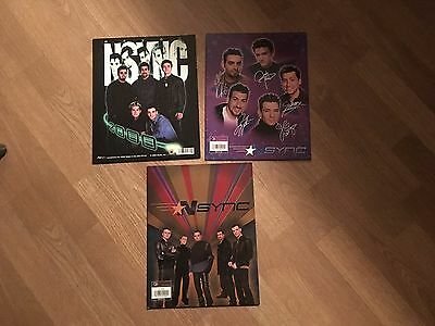 Justin Timberlake Nsync lot of 3 Folders