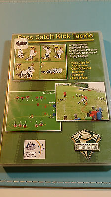 Pass Catch Kick Tackle ARL Foundation CD-Rom x 2 - LE916