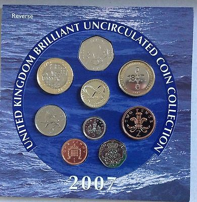 2007 Royal Mint Annual Brilliant Uncirculated 9 Coin Set